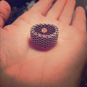 Stunning Tiffany Somerset Mesh Ring Original 925